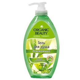"""Organic beauty гель для душа """"Бамбук и зеленый чай"""" освежающий"""