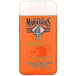 """Le Petit Marseillais гель для душа """"Белый персик и нектарин"""" 250 мл + питательный крем для рук """"Карите сладкий миндаль и масло арганы"""""""