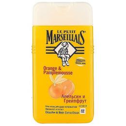 """Le Petit Marseillais гель-пена для душа """"Грейпфрут и апельсин"""" 250 мл + гель для душа """"Цветок апельсинового дерева"""" 250 мл"""