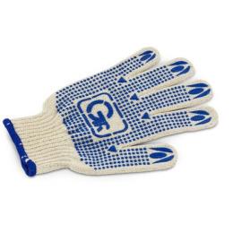 Grifon перчатки хлопчатобумажные с пвх напылением белые, размер M