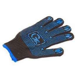 Grifon перчатки хлопчатобумажные с пвх напылением черные, размер L
