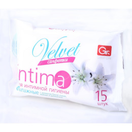 """Grifon салфетки для интимной гигиены """"Velvet. Intima"""" влажные, в упаковке"""
