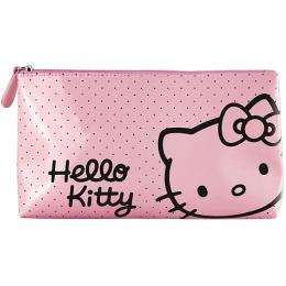 Hello Kitty косметичка глянцевая розовая