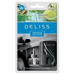 """Deliss автомобильный ароматизатор комплект """"Comfort"""" аромат кипариса, бергамота, мускатного ореха"""