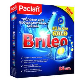 """Paclan таблетки для посудомоечных машин """"Brileo. All in one. Gold"""""""