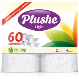 """Plushe туалетная бумага """"Light"""" 2 слоя"""