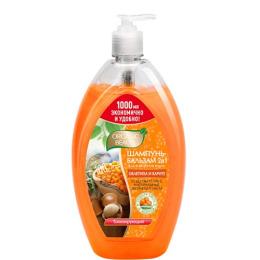 """Organic beauty шампунь-бальзам для волос 2 в 1 """"Облепиха и Карите"""" тонизирующий"""