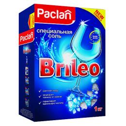 """Paclan соль для посудомоченых машин """"Brileo"""", 1 кг"""