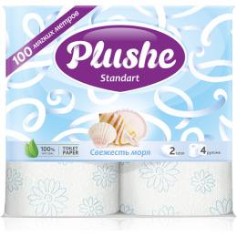 "Plushe туалетная бумага ""Standart. Свежесть моря"" 2 слоя"