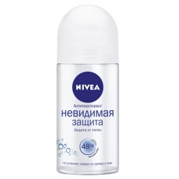 """Nivea антиперспирант для женщин """"Невидимая защита Пьюр"""" ролик, 50 мл"""