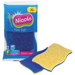 """Nicols губка кухонная целлюлозная """"Cello Soft"""" синяя, 2 шт"""