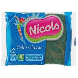 "Nicols губка кухонная целлюлозная ""Cello Classic"" зеленая, 2 шт"