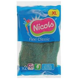 Nicols губка кухонная трехслойная ультратонкая, 2 шт