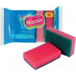 "Nicols губка кухонная ""Netto Max"", 5 шт"