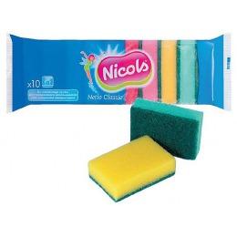 """Nicols губка кухонная """"Netto Classic"""", 10 шт"""