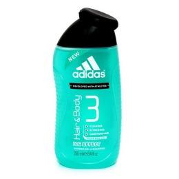 "Adidas гель для душа ""Body-Hair-Face Ice Effect "" для мужчин, 250 мл"