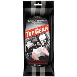Top Gear салфетки влажные антибактериальные для рук, 30 шт
