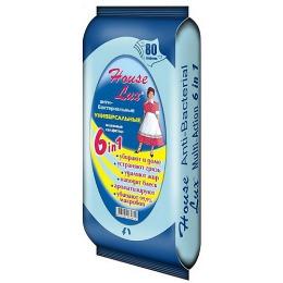 House Lux салфетки влажные универсальные антибактериальные, 80 шт
