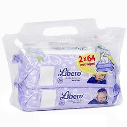 Libero салфетки влажные сменный блок экономичная упаковка, 128 шт