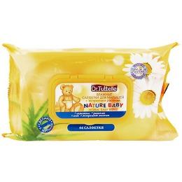 Dr.Tut салфетки влажные для малышей, мягкая упаковка, 64 шт