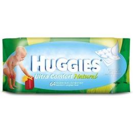 """Huggies салфетки влажные """"Ultra Comfort"""" детские, без отдушки, 64 шт"""