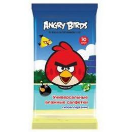 Angry Birds салфетки влажные универсальные, 30 шт
