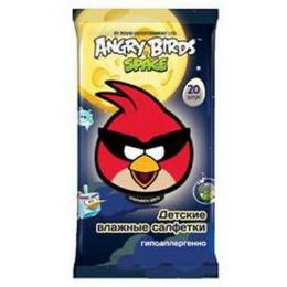 Angry Birds салфетки влажные детские, 20 шт