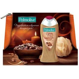 """Palmolive набор """"Гурмэ Спа Сливочный кофе"""" в косметичке гель для душа """"Гурмэ Спа Сливочный Кофе"""" 250 мл + мочалка + косметичка"""