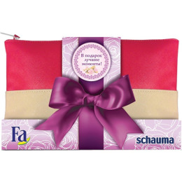 Schauma набор Fa крем-гель для душа + дезодорант + шампунь 225 мл + косметичка