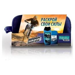 "Palmolive набор Men ""Спорт"" гель для душа ""Спорт"" 250 мл + дезодорант-антиперспирант твердый Mennen Speed Stick ""Neutro Power"" 50 г + несессер"