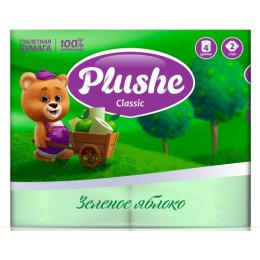 """Plushe туалетная бумага """"Classic. Зеленое Яблоко"""" 2 слоя"""