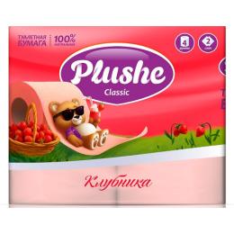 """Plushe туалетная бумага """"Classic. Клубника"""" 2 слоя"""
