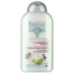 """Le Petit Marseillais шампунь """"Лен и молочко сладкого миндаля""""для нормальных волос 250 мл, шампунь """"Яблоко и олива"""" для нормальных волос 250 мл"""