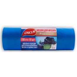 Unicum мешок для мусора 180 л синий, в рулоне