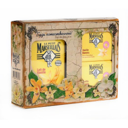 "Le Petit Marseillais гель для душа ""Ваниль"" экстрамягкий 250 мл, мыло ""Ваниль"" экстрамягкое 90 г 2 шт"