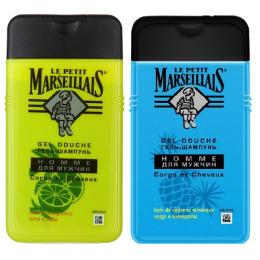 """Le Petit Marseillais гель-шампунь """"Кедр и минералы"""" для мужчин 250 мл, гель-шампунь """"Мята и лайм"""" для мужчин 250 мл"""