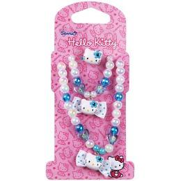 "Hello Kitty набор бижутерии ""Бантики"" 3 предмета: кольцо, 1 шт, бусы, 1 шт, браслет, 1 шт"
