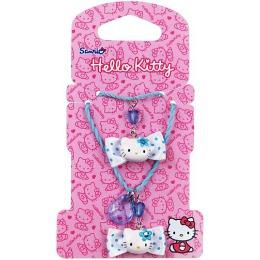 """Hello Kitty набор бижутерии """"Бантики"""" 2 предмета: украшение с подвеской, 1 шт, браслет, 1 шт"""