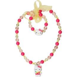 "Hello Kitty набор бижутерии ""Sweet Summer"" 2 предмета: бусы, 1 шт, браслет, 1 шт"