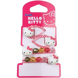 "Hello Kitty набор ""Sweet Summer"", резинки 2 шт, заколка-клип 2 шт"