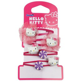 "Hello Kitty набор ""Sweet Summer"", заколка-клип шифон 2 шт, резинка 2 шт"