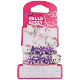 """Hello Kitty набор """"Sweet Summer"""", заколка-клип 2 шт, резинки """"Конфетки"""" 2 шт"""