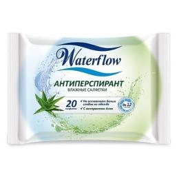 "Waterflow влажные салфетки ""Антиперспирант"""