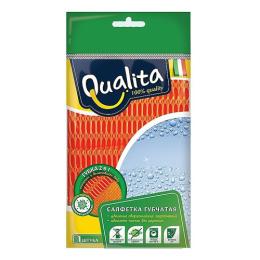 Qualita салфетка-губка из микрофибры 2в1