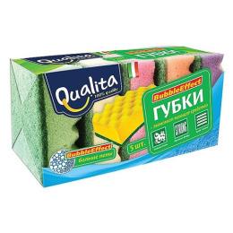 """Qualita кухонные губки для посуды """"Bubble Effect"""""""