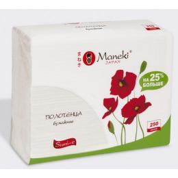 Maneki полотенца бумажные для диспенсера z-сложения, 230 х 230 мм, 250 шт