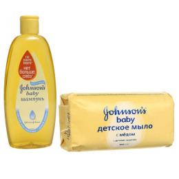 """Johnson`s baby шампунь """"Нет больше слез"""" 300 мл + мыло детское с медом 100 г"""