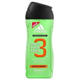 "Adidas гель для душа, шампунь и гель для умывания ""Body-Hair-Face Active Start"" для мужчин"
