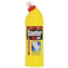 """Sanfor гель чистящий """"Лимонная свежесть"""" для туалетной комнаты"""