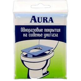 Aura покрытие для унитаза одноразовое, 10 шт